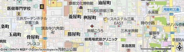 京都府京都市中京区道祐町周辺の地図