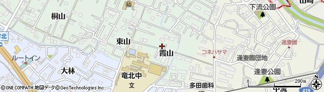 愛知県知立市山屋敷町(霞山)周辺の地図