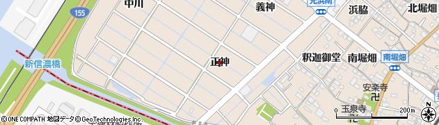 愛知県東海市養父町(正神)周辺の地図