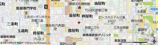 京都府京都市中京区丸屋町周辺の地図