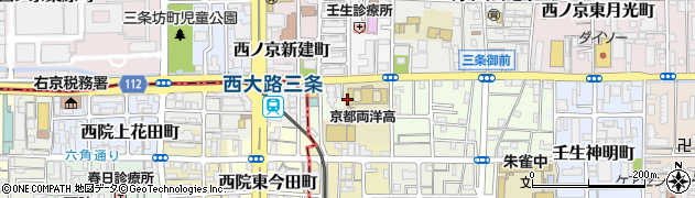 京都府京都市中京区壬生上大竹町周辺の地図
