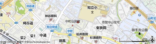 愛知県知立市中町(家下)周辺の地図