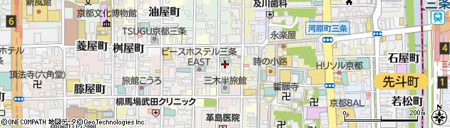 京都府京都市中京区白壁町周辺の地図