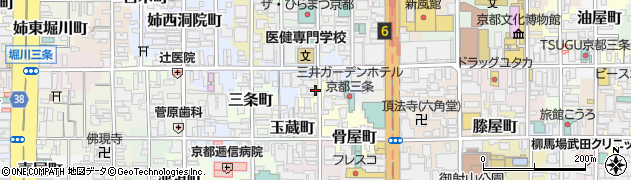 京都府京都市中京区烏帽子屋町周辺の地図