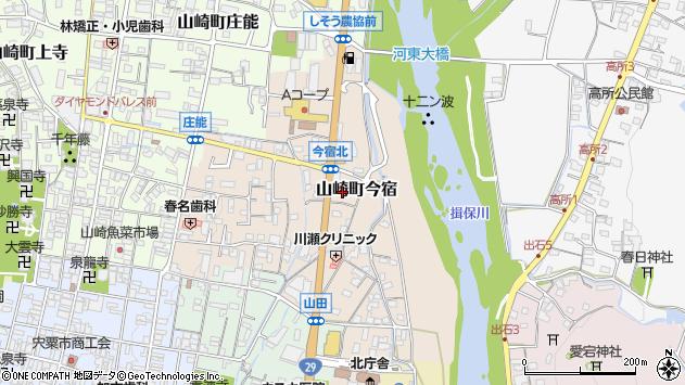 〒671-2573 兵庫県宍粟市山崎町今宿の地図