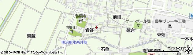愛知県豊田市和会町(岩谷)周辺の地図