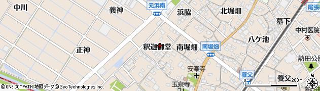 愛知県東海市養父町(釈迦御堂)周辺の地図