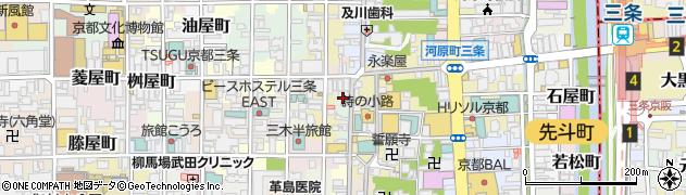 京都府京都市中京区永楽町周辺の地図