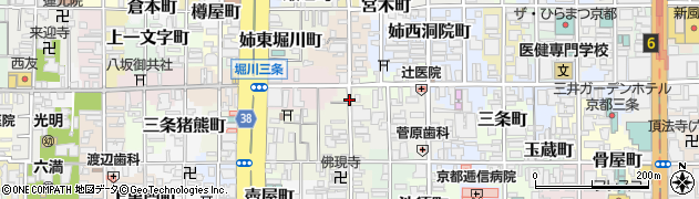 京都府京都市中京区三条油小路町周辺の地図