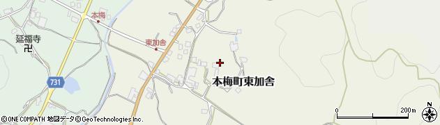 京都府亀岡市本梅町東加舎(深田)周辺の地図