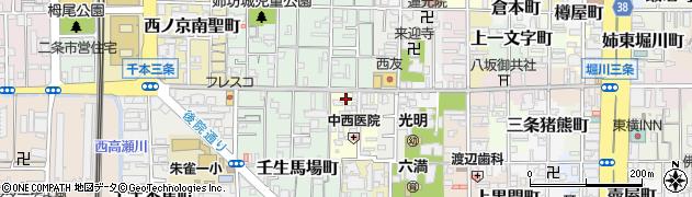 京都府京都市中京区今新在家西町周辺の地図