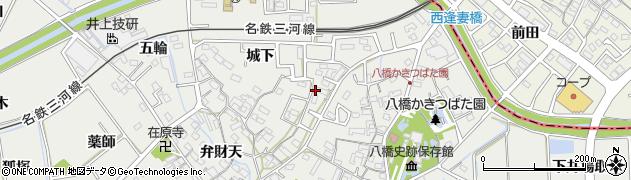 愛知県知立市八橋町周辺の地図