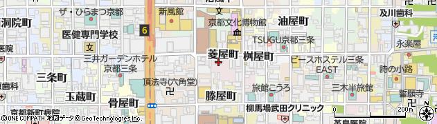 京都府京都市中京区菱屋町周辺の地図
