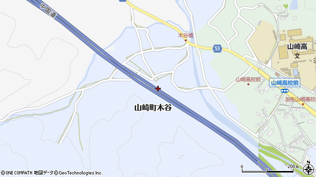〒671-2567 兵庫県宍粟市山崎町木谷の地図