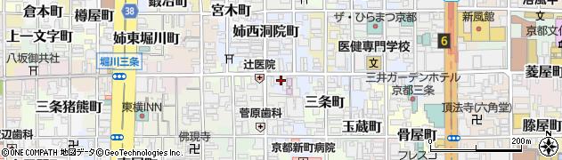 京都府京都市中京区釜座町周辺の地図