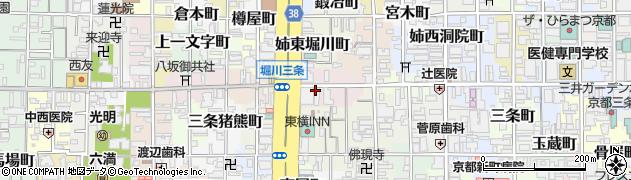 京都府京都市中京区橋東詰町周辺の地図