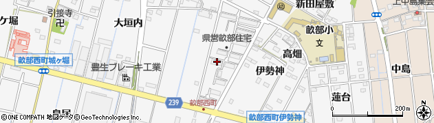 愛知県豊田市畝部西町(薮下)周辺の地図