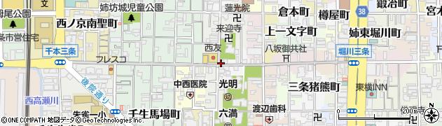 京都府京都市中京区上瓦町周辺の地図
