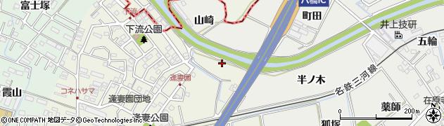 愛知県知立市八橋町(半ノ木)周辺の地図
