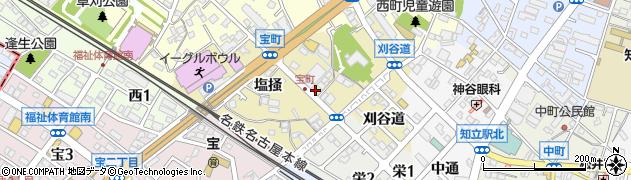 愛知県知立市宝町周辺の地図