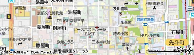 京都府京都市中京区弁慶石町周辺の地図