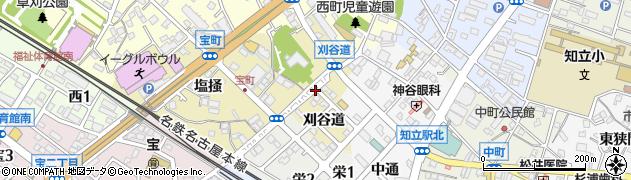 愛知県知立市宝町(刈谷道)周辺の地図