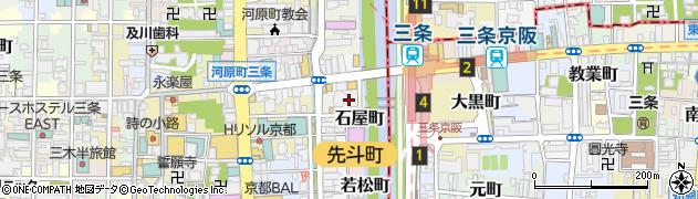京都府京都市中京区石屋町周辺の地図