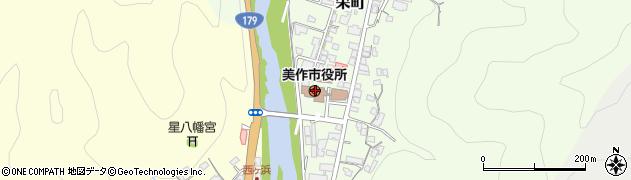 岡山県美作市周辺の地図