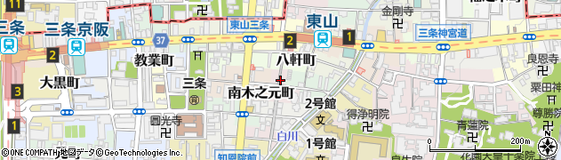 京都府京都市東山区古川町周辺の地図