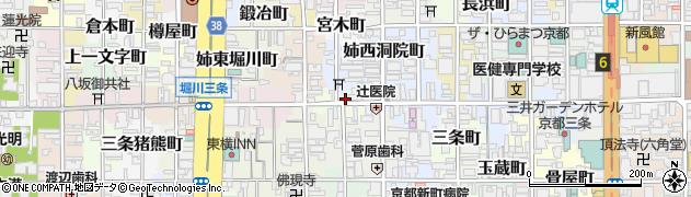 京都府京都市中京区塩屋町周辺の地図