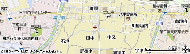 京都府亀岡市篠町柏原(田中)周辺の地図