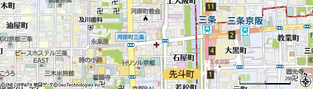 京都府京都市中京区中島町周辺の地図