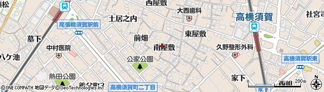愛知県東海市高横須賀町(南屋敷)周辺の地図