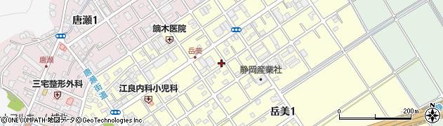 静岡県静岡市葵区岳美周辺の地図
