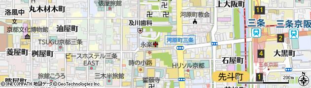 京都府京都市中京区石橋町周辺の地図