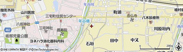 京都府亀岡市篠町柏原(石垣)周辺の地図