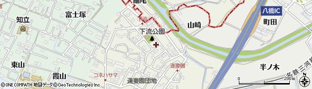 愛知県知立市牛田町(下流)周辺の地図