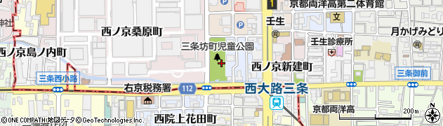 京都府京都市中京区西ノ京三条坊町周辺の地図