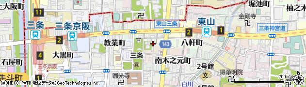 京都府京都市東山区南西海子町周辺の地図