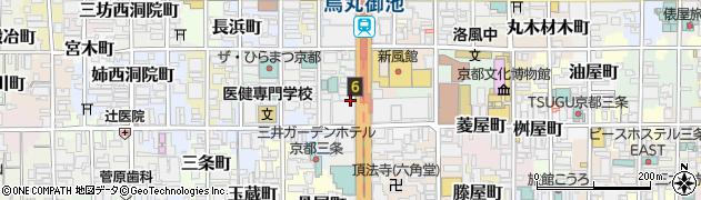 京都府京都市中京区場之町周辺の地図