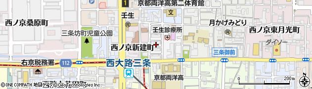 京都府京都市中京区西ノ京北小路町周辺の地図
