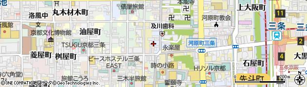京都府京都市中京区天性寺前町周辺の地図