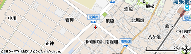 愛知県東海市養父町(義神)周辺の地図