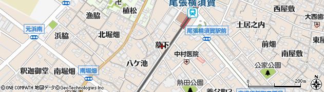愛知県東海市養父町(墓下)周辺の地図