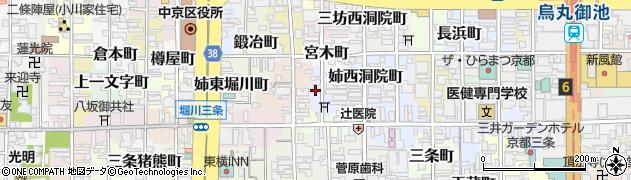 京都府京都市中京区西堂町周辺の地図
