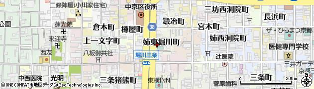 京都府京都市中京区姉東堀川町周辺の地図