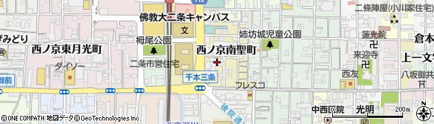 京都府京都市中京区西ノ京南聖町周辺の地図