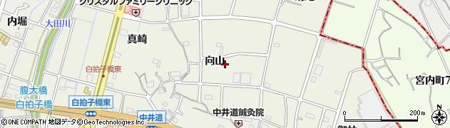 愛知県東海市加木屋町(向山)周辺の地図