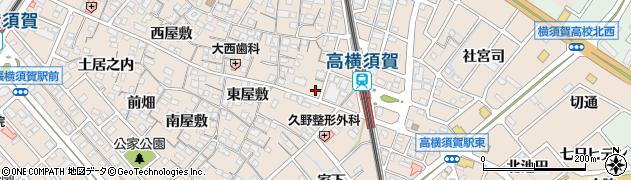愛知県東海市高横須賀町(藪下)周辺の地図