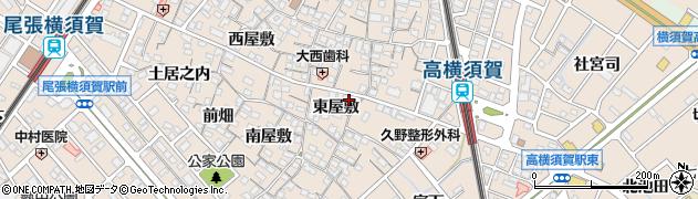愛知県東海市高横須賀町(東屋敷)周辺の地図